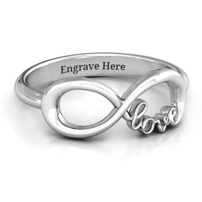 Love Infinity Ring - Name My Jewellery