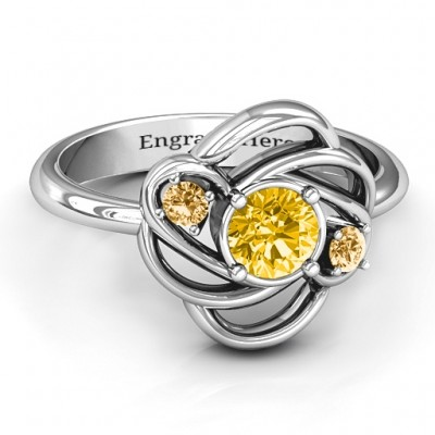 Multi Stone Love Knot Ring  - Name My Jewellery