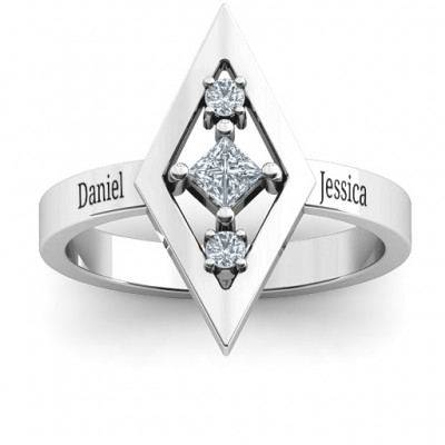 Playing with Diamonds Ring - Name My Jewellery