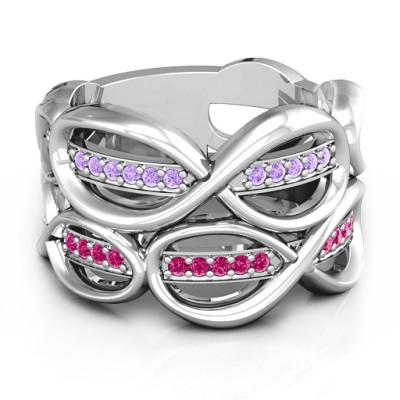 Ravishing Love Infinity Ring - Name My Jewellery