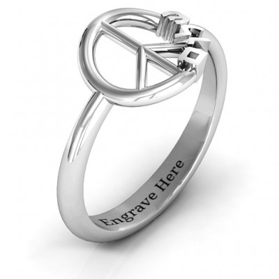 Shalom Peace Ring - Name My Jewellery