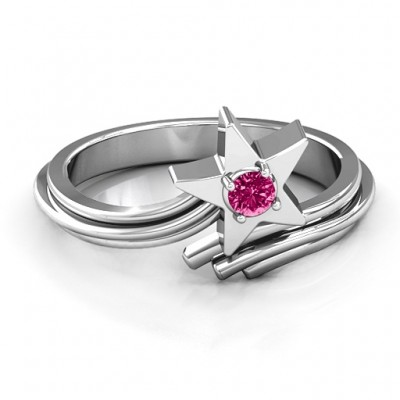 Shooting Star Ring - Name My Jewellery