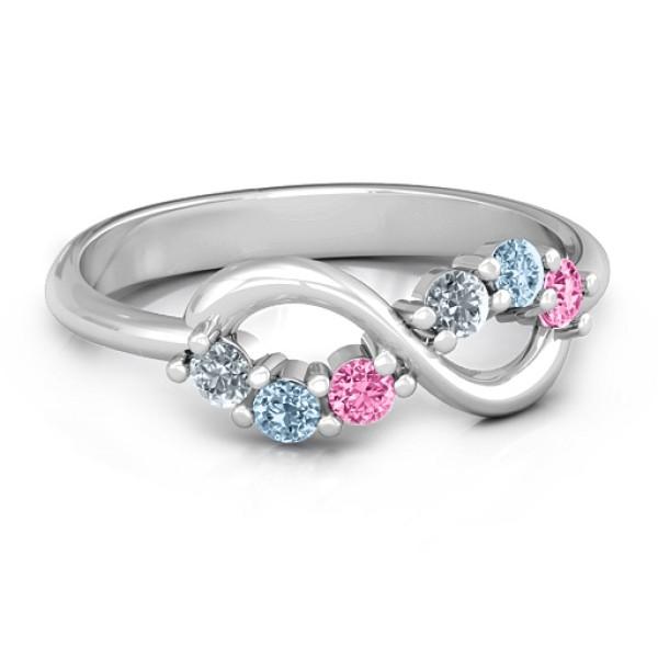 Split Infinity Ring - Name My Jewellery