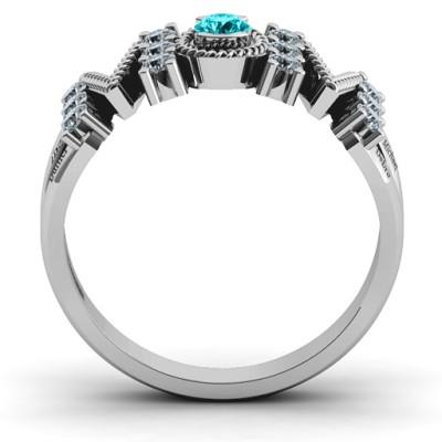 Split Shank Stone Filled MOM Ring  - Name My Jewellery