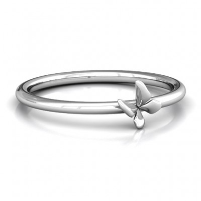 Stackr Soaring Butterfly Ring - Name My Jewellery