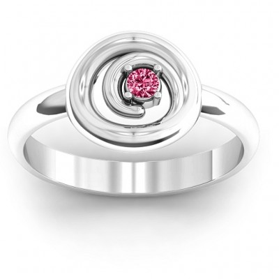Sterling Silver  Swirling Desire  Ring - Name My Jewellery