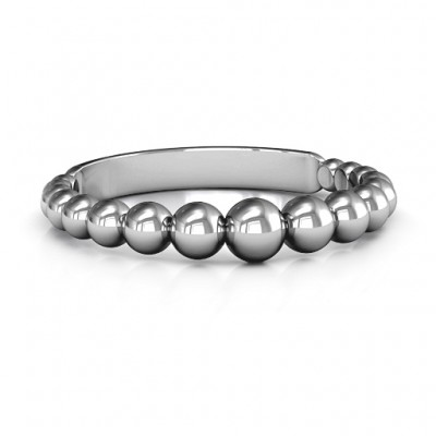 Sterling Silver Beaded Beauty Ring - Name My Jewellery