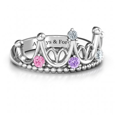 Sterling Silver Like A Dream Tiara Ring - Name My Jewellery