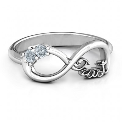 Sterling Silver Trust Infinity Ring - Name My Jewellery