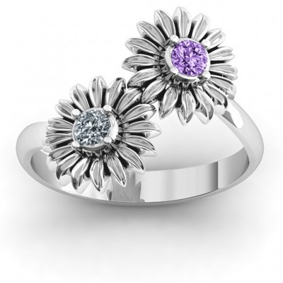 Sun Flowers Ring - Name My Jewellery