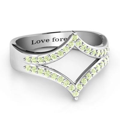 Symmetrical Sparkle Ring - Name My Jewellery