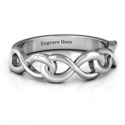 Triple Entwined Infinity Ring - Name My Jewellery