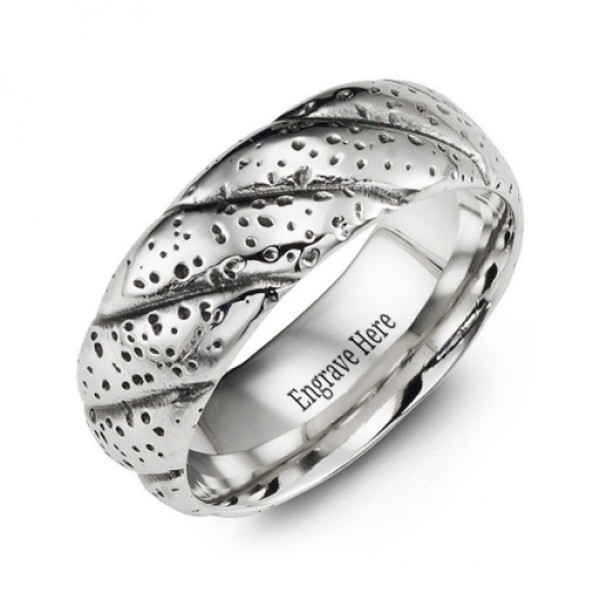 Twisted Cobalt Ring - Name My Jewellery