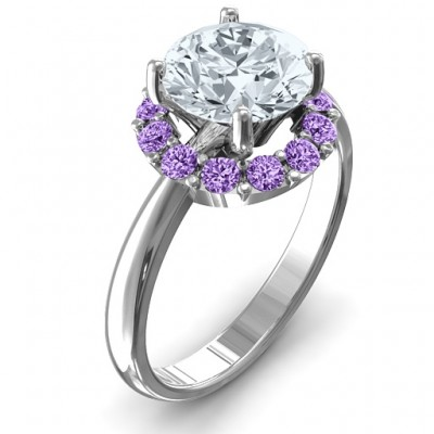 Victoria Single Halo Ring - Name My Jewellery