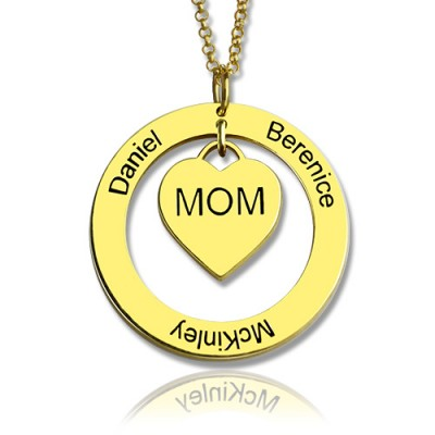 Family Names Necklace For Mom 18ct Gold Plating - Name My Jewellery