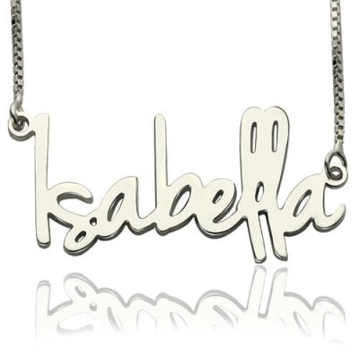 Small Name Necklace For Her Sterling Silver - Name My Jewellery