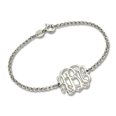 Sterling Silver Monogram Bracelet - Name My Jewellery