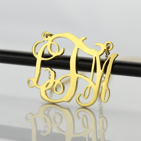 Cut Out Taylor Swift Monogram Necklace 18ct Gold Plated - Name My Jewellery