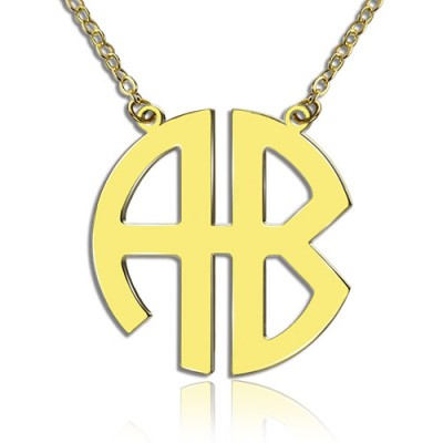 18ct Gold Plated 2 Letters Capital Monogram Necklace - Name My Jewellery