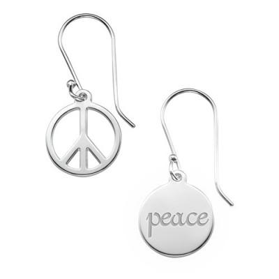 Asymmetric Earrings in Sterling Silver - Name My Jewellery