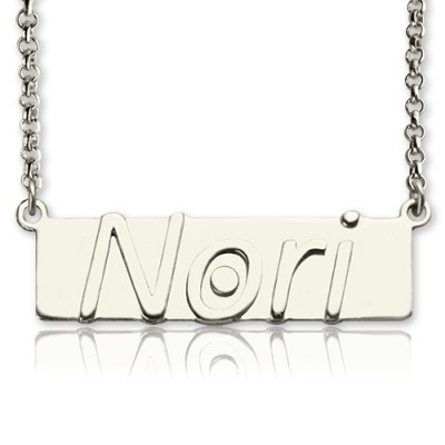 Personalised Nameplate Bar Necklace Sterling Silver - Name My Jewellery