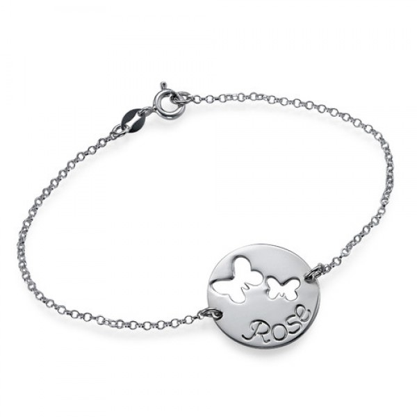 Cut Out Butterfly Bracelet/Anklet - Name My Jewellery