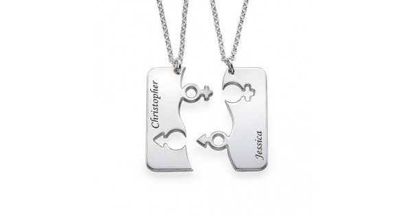 cb7af7dcd0 Engraved His and Hers Necklace for Couples - Name My Jewellery