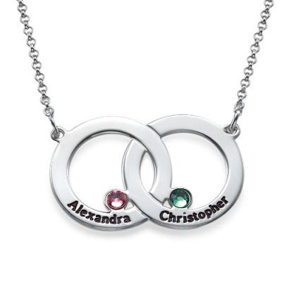 Engraved Interlocking Circle Necklace - Name My Jewellery