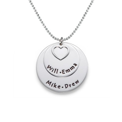 Family Necklace in Sterling Silver - Name My Jewellery