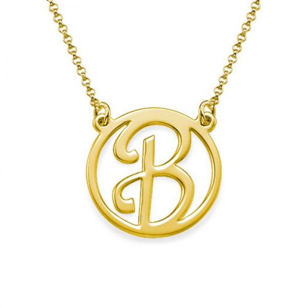 18k Gold Plated Cut Out Initial Necklace - Name My Jewellery