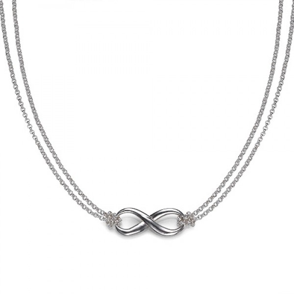 Silver Infinity Necklace - Name My Jewellery