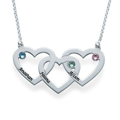Intertwined Hearts Necklace - Name My Jewellery