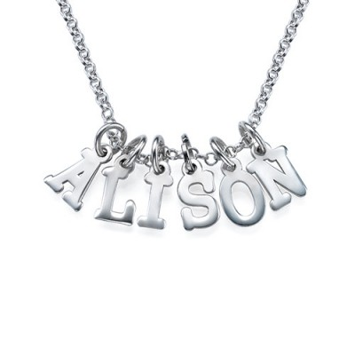 Multiple Initial Necklace in Silver - Name My Jewellery