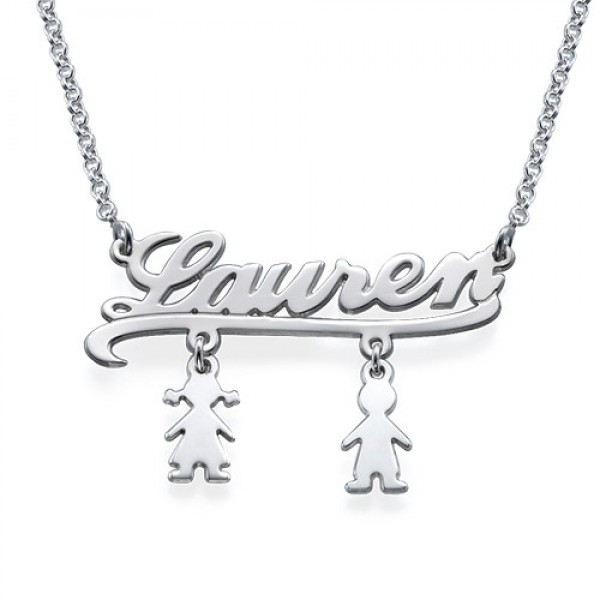 bde6d62af Mummy Name Necklace with Kids Charms - Name My Jewellery