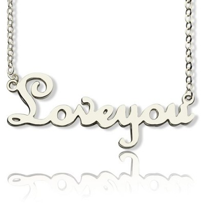 Personalised Sterling Silver Cursive Name Necklace - Name My Jewellery