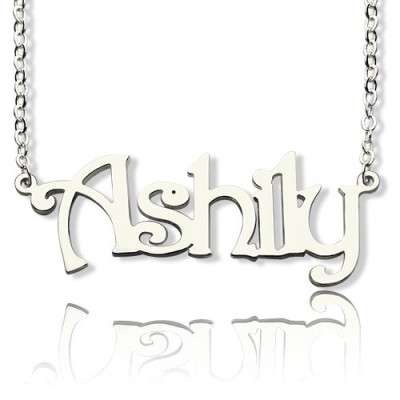 Sterling Silver Harrington Font Name Necklace - Name My Jewellery