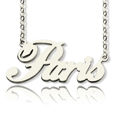 """Custom Name Necklace Sterling Silver """"Paris"""" - Name My Jewellery"""