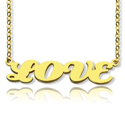 Gold Plated Capital Name Necklace Personalised - Name My Jewellery