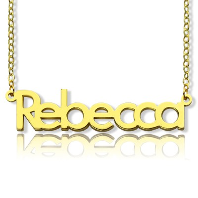 Solid Gold Rebecca Style Name Necklace-18ct - Name My Jewellery
