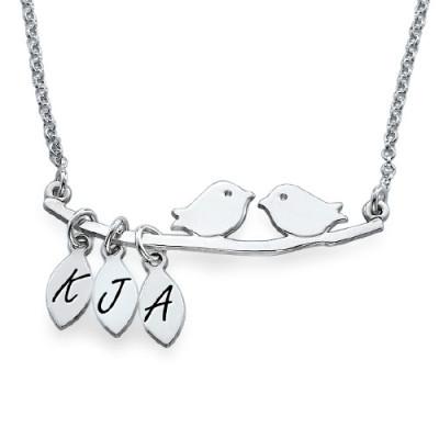 Personalised Mum Jewellery – Silver Bird Necklace - Name My Jewellery