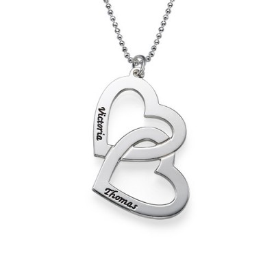 Personalised Heart in Heart Necklace - Name My Jewellery
