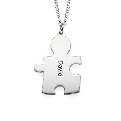 Personalised Silver Puzzle Necklace - Name My Jewellery