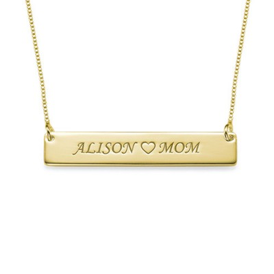18ct Gold Plated Personalised Nameplate Necklace - Name My Jewellery