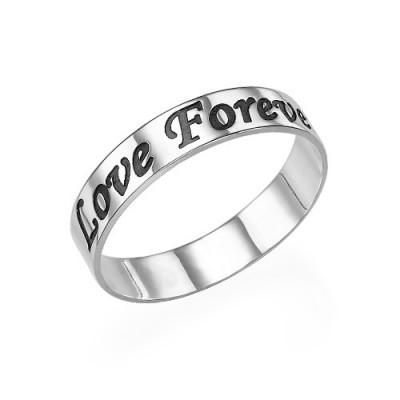 Script Sterling Silver Promise Ring - Name My Jewellery