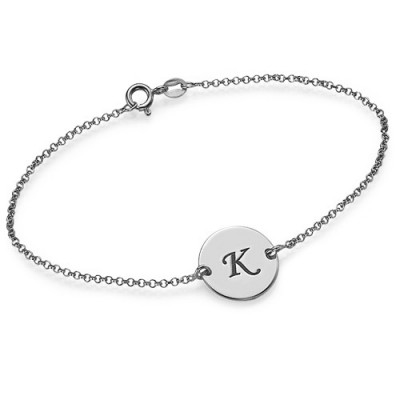 Sterling Silver Initial Bracelet/Anklet - Name My Jewellery