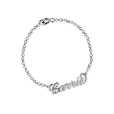 Silver and Crystal Name Bracelet/Anklet - Name My Jewellery