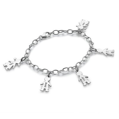 Sterling Silver Engraved Mothers Day Bracelet/Anklet - Name My Jewellery
