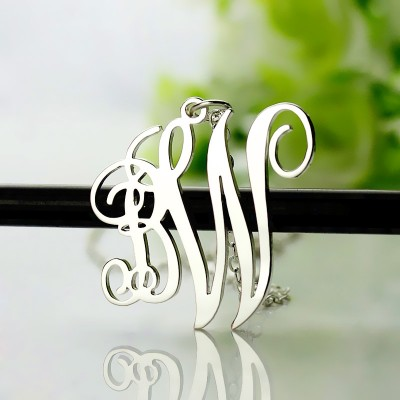 Birthstone Circle Monogram Necklace Sterling Silver  - Name My Jewellery