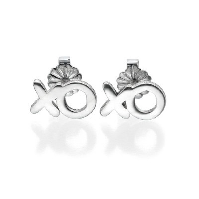 XO Silver Earrings - Name My Jewellery
