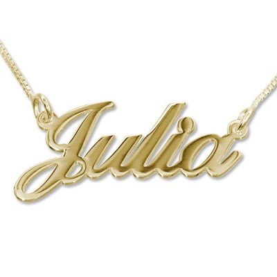 18ct Gold-Plated Silver Classic Name Necklace - Name My Jewellery